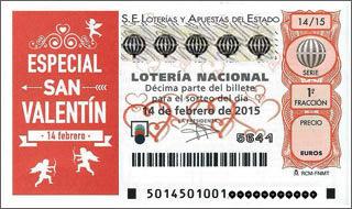 Sorteo Extraordinario de San Valentin- Play Loteria Nacional Extra